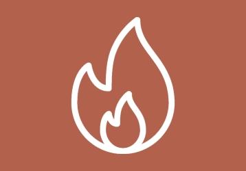Platzhalterlogo, auf dem eine Flamme zu sehen ist