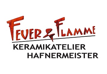 Logo Keramikatelier Feuer u.  Flamme