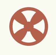 Icon, das für Wärmepumpe steht