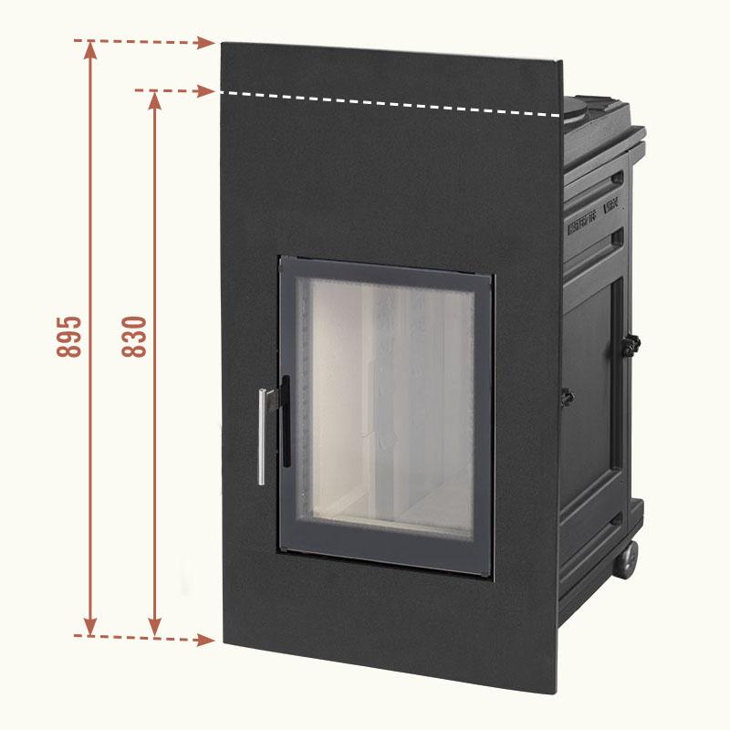 LE Low Emission Gusseinsatz für Scheitholz 33 cm - Max. 15kg