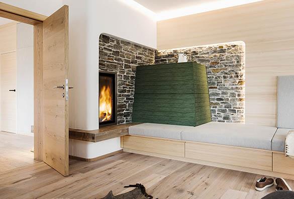 Heizen mit Holz und Wärmepumpe
