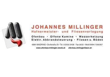 Logo Millinger Johannes     Hafnermeister u. Fliesenverlegung